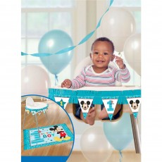 Mickey Mouse 1st Birthday Fun To Be One High Chair Decorating Kit