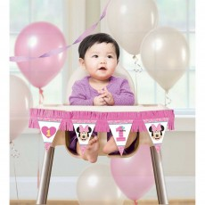 Minnie Mouse 1st Birthday Fun To Be One High Chair Decorating Kit