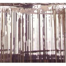 Metallic Silver Metallic Curtain Door Decoration 2.4m x 91cm