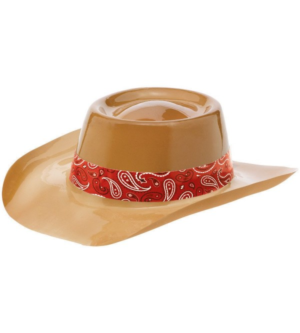 Bandana & Blue Jeans Costume Accessories Brown Cowboy Hat with Red Band