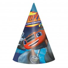 Blaze & The Monster Machines Cone Paper Party Hats Pack of 8