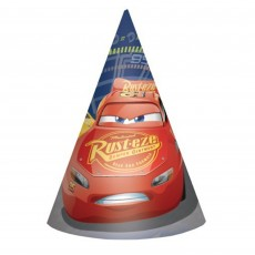 Disney Cars 3 Cone Party Hats Pack of 8