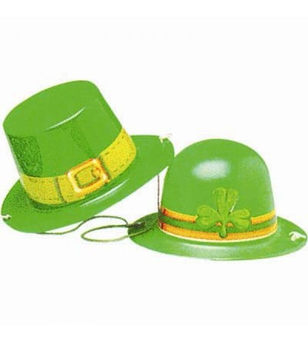 St Patrick's day Costume Accessories 5cm Assorted Colours Mini Plastic Hat