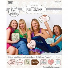 Bridal Shower Photo Fun Signs Misc Accessories Pack of 12