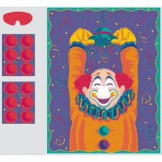 Happy Birthday Pin the Nose on the Clown Party Game