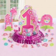 Girl One Wild Table Decorations Decorating Kit