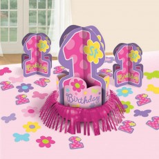 Girl One-derful Table Decorations Decorating Kit