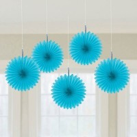 Blue Hanging Decorations 15cm Pack of 5