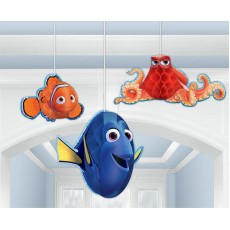 Finding Dory Hanging Decorations Honeycomb Pack of 3