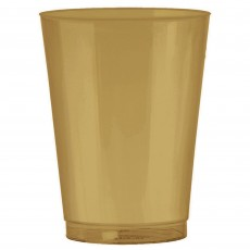 Gold Tumblers Plastic Cups 295ml Pack of 72