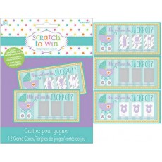 Baby Shower - General Party Games 10cm x 5cm Scratch Off Cards Pack of 12
