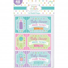 Baby Shower - General Prize Tickets Party Games Pack of 48