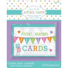 Baby Shower - General Party Games  New Mummy Advice Cards Pack of 24