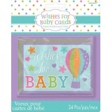 Baby Shower - General Party Games 12cm x 9cm Wishes for Baby Cards Pack of 24