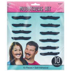 Rock n Roll Party Supplies - Classic 50's Plush Moustaches