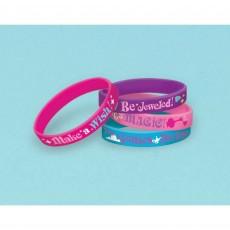Shimmer & Shine Rubber Bracelets Favours Pack of 6