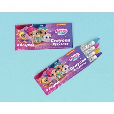 Shimmer & Shine with 4 Crayons in each pack Favours 12 Packs