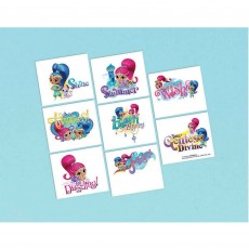 Shimmer & Shine Tattoo Favours 5cm x 4cm 8 Tattoos