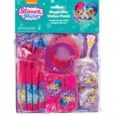 Shimmer & Shine Mega Mix Value Pack Favours For 8 Guests 48 Items