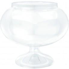Clear Short Round Pedestal Jar Container 15.8cm