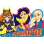 Super Hero Girls Invitations Pack of 8