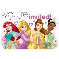 Disney Princess Invitations Pack of 8 Dream Big