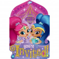 Shimmer & Shine Postcard Invitations Pack of 8