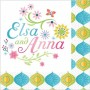 Disney Frozen Frozen Fever Elsa and Anna Beverage Napkins 25cm x 25cm Pack of 16