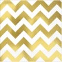 Chevron Design Lunch Napkins 33cm x 33cm Gold Pack of 16