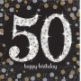 50th Birthday Sparkling Celebration Lunch Napkins 33cm x 33cm Pack of 16