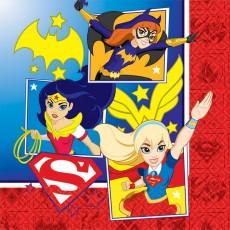 Super Hero Girls Lunch Napkins 33cm x 33cm Pack of 16