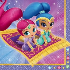 Shimmer & Shine Lunch Napkins 33cm x 33cm Pack of 16