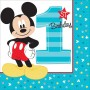 Boy Mickey Mouse 1st Birthday Lunch Napkins 33cm x 33cm Fun To Be One Pack of 16