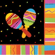 Mexican Fiesta Fiesta Fun Lunch Napkins 33cm x 33cm Pack of 16