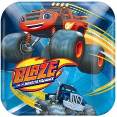 Square Blaze & The Monster Machines Lunch Plates 17cm Pack of 8