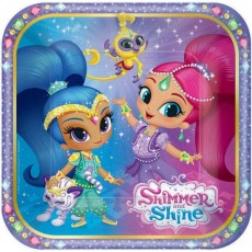 Square Shimmer & Shine Lunch Plates 18cm Pack of 8