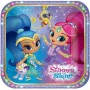 Shimmer & Shine Lunch Plates 18cm Pack of 8