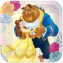 Beauty & the Beast Lunch Plates 18cm Pack of 8