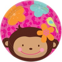 Monkey Love Lunch Plates 18cm Pack of 8