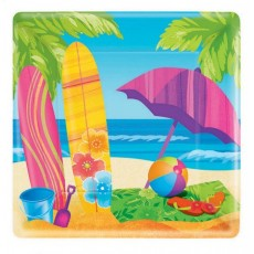 Hawaiian Party Decorations Surf's Up Lunch Plates