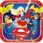 Super Hero Girls Dinner Plates 23cm Pack of 8