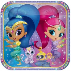 Square Shimmer & Shine Dinner Plates 23cm Pack of 8