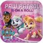 Square Paw Patrol Girl Paw Patrol is on a Roll! Dinner Plates 23cm Pack of 8