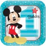 Boy Mickey Mouse 1st Birthday Dinner Plates 23cm Fun To Be One Pack of 8