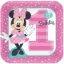 Square Minnie Mouse 1st Birthday Fun To Be One Dinner Plates 23cm Pack of 8