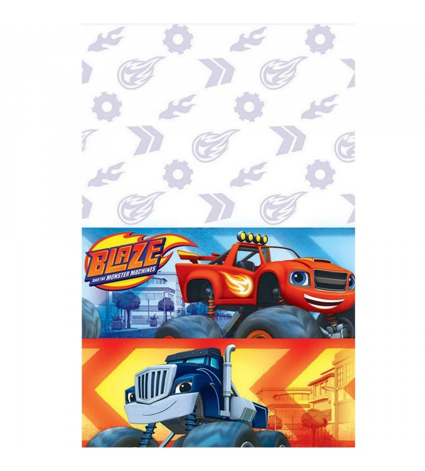 Blaze & The Monster Machines Plastic Table Cover 1.37m x 2.43m