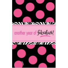 Fabulous Birthday Plastic Table Covers 137cm x 259cm  Another Year of Fabulous