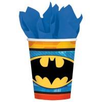 Batman Paper Cups 266ml New Design Pack of 8