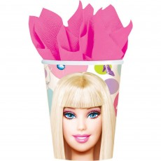 Barbie All Doll'd Up Paper Cups 266ml Pack of 8