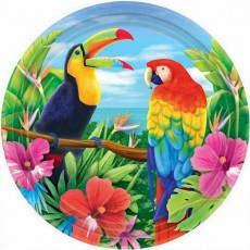 Hawaiian Party Decorations 27cm Banquet Plates